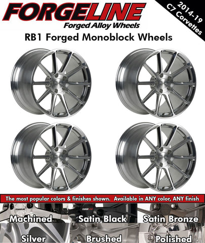 2014-19 Corvette Forgeline RB1 1-Piece Forged Monoblock Wheels