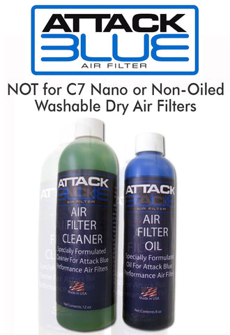 Attack Blue Performance Air Filter Cleaner System