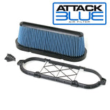 2009-2013 Corvette ZR1 LS9 Attack Blue Performance Air Filter w/GM Brace - Nowicki Autosport
