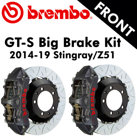 2014-19 Corvette Stingray/Z51 Brembo GT-S Front Big Brake Kit