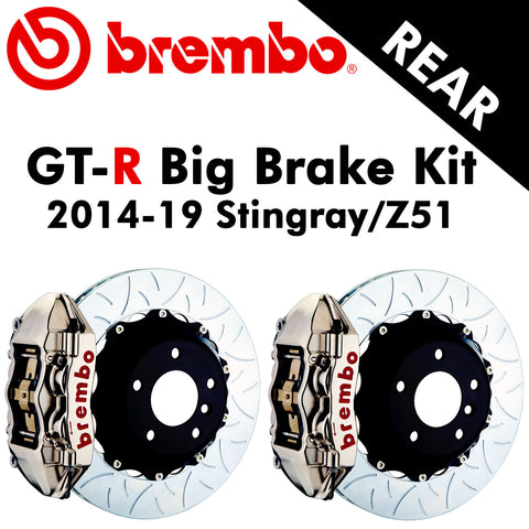 2014-19 Corvette Stingray/Z51 Brembo GT-R Rear Big Brake Kit