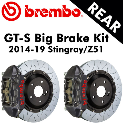 2014-19 Corvette Stingray/Z51 Brembo GT-S Rear Big Brake Kit