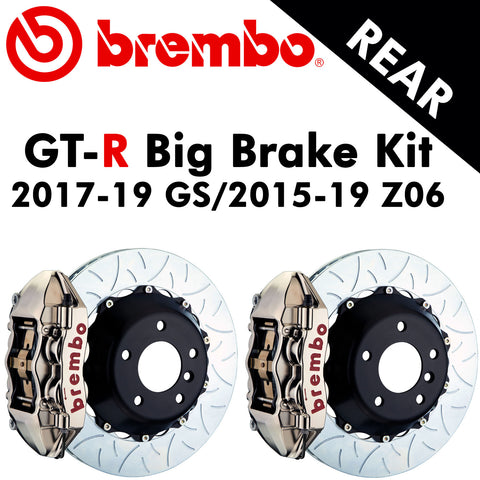 2017-19 Corvette GS/2015-19 Z06 Brembo GT-R Rear Big Brake Kit