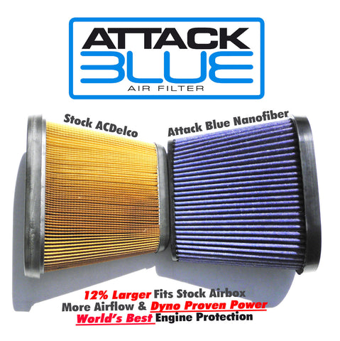 2014-19 Corvette Attack Blue Dry Nanofiber Performance Air Filter