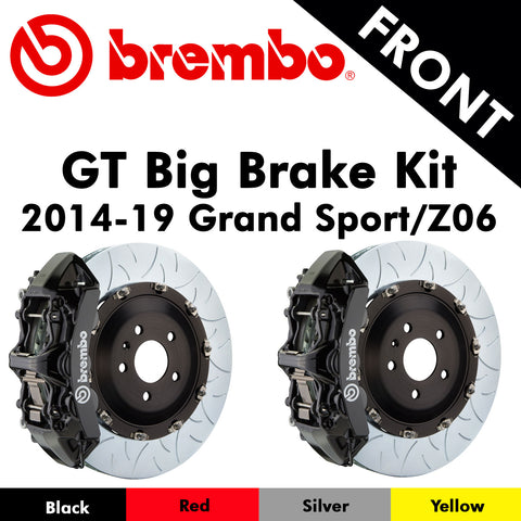 2014-19 Corvette Grand Sport/Z06 Brembo GT Front Big Brake Kit (4 Colors)