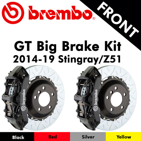 2014-19 Corvette Stingray/Z51 Brembo GT Front Big Brake Kit (4 Colors)