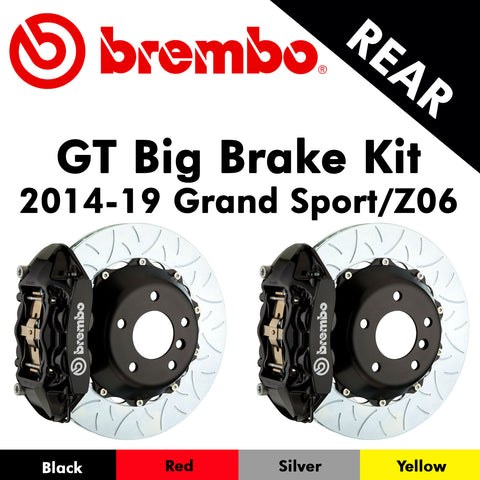 2014-19 Corvette Grand Sport/Z06 Brembo GT Rear Big Brake Kit (4 Colors)