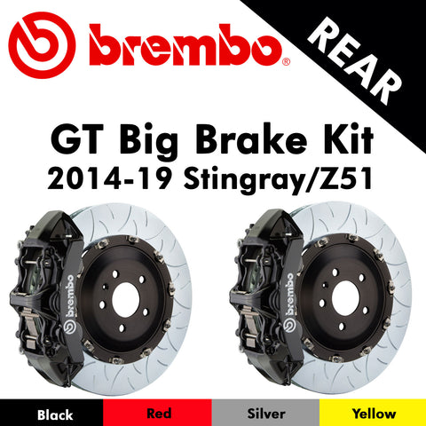 2014-19 Corvette Stingray/Z51 Brembo GT Rear Big Brake Kit (4 Colors)