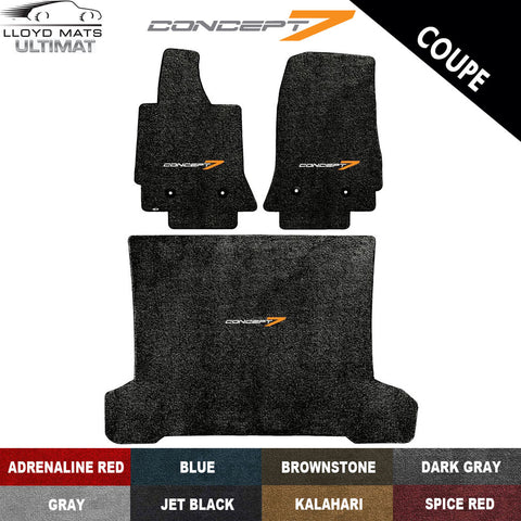 2014-19 Corvette Coupe Concept7 Lloyd Ultimat Floor & Cargo Mat Set (8 Colors)