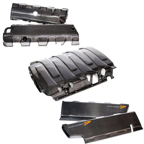 2014-19 Corvette Concept7 Carbon Fiber 5-Piece Engine Cover Combo (2 Variations)