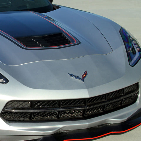 2014-19 Corvette Concept7 Carbon Fiber Front Grille Center Bar (2 Variations)
