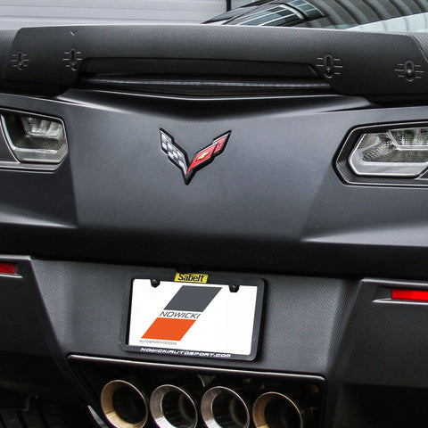 2014-19 Corvette Z06 ConceptZ Carbon Fiber Adjustable Rear Spoiler Center Wicker (2 Variations)