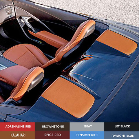 2014-19 Corvette Concept7 Convertible Leather Tonneau Cover Inserts (8 Colors)
