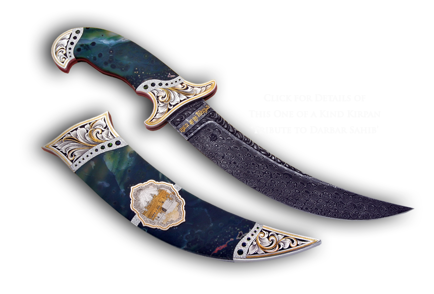 Highly embellished jasper kirpan