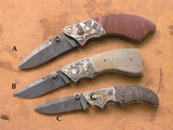3 engraved folding knives each for: