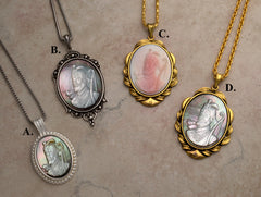10th Master 3D portrait natural shell pendants on chains