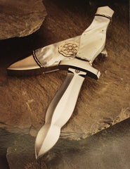 Mother of pearl handled dagger with matching scabbard