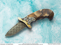 Engraved Jasper folding knife6