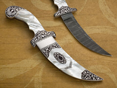 Engraved stylized mother of pearl Kirpan