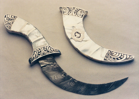 Engraved mother of pearl Kirpan