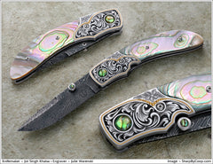 Abalone folding knife2