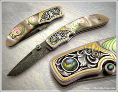 Abalone folding knife