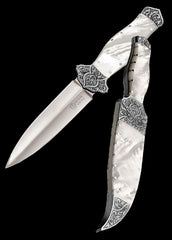 Mother of pearl handled dagger and matching sheath