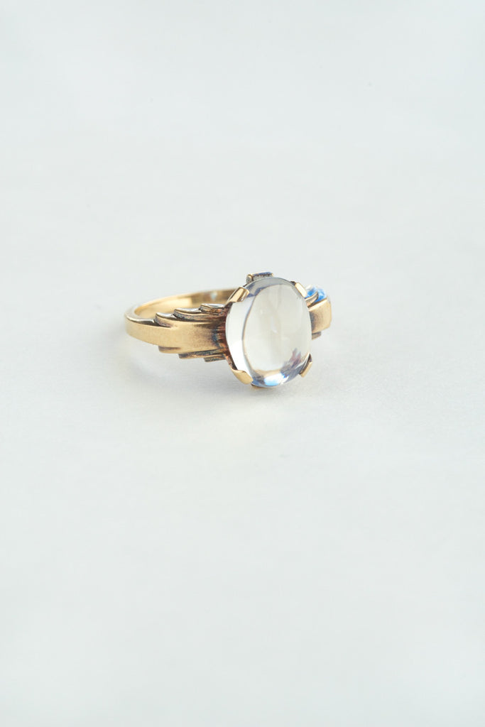 Art Deco Moonstone Ring