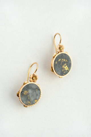 Victorian Gold Quartz Earrings