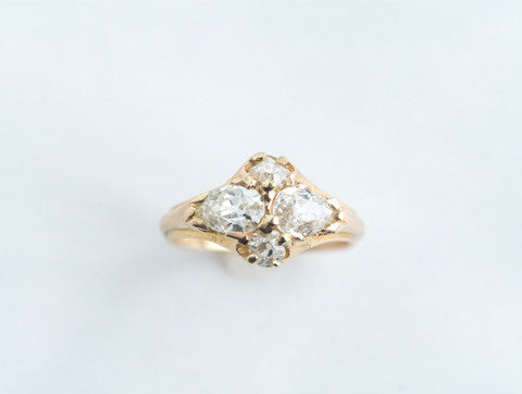 Twin Pear Diamond Ring