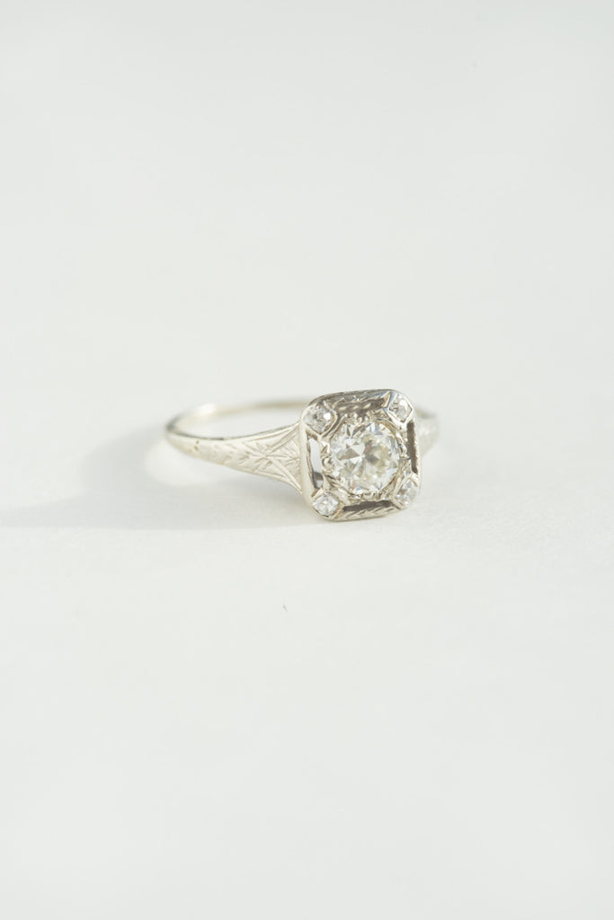 .33 Carat Art Deco Engagement Ring