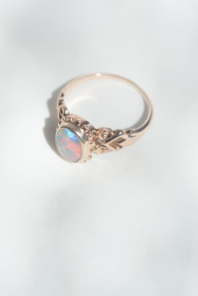 Vintage 14k Opal Ring Quitokeeto