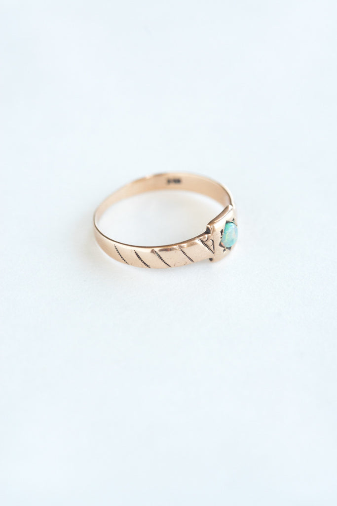 Victorian 14k Rose Gold Opal Ring