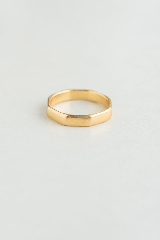 Mid-century Octagonal 22k Gold Band
