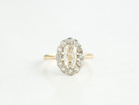 Estate Diamond Halo Ring