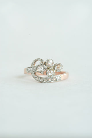 Antique French Rosecut Diamond Ring