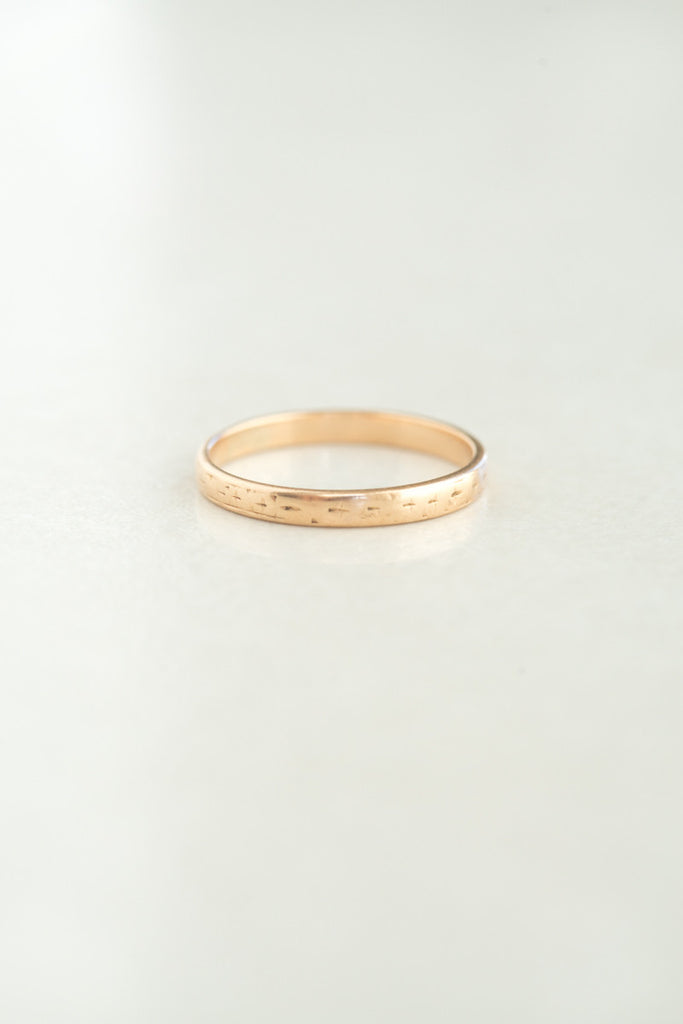 Vintage 14k Engraved Gold Band