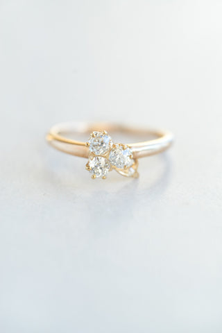 Vintage Diamond Trefoil Ring