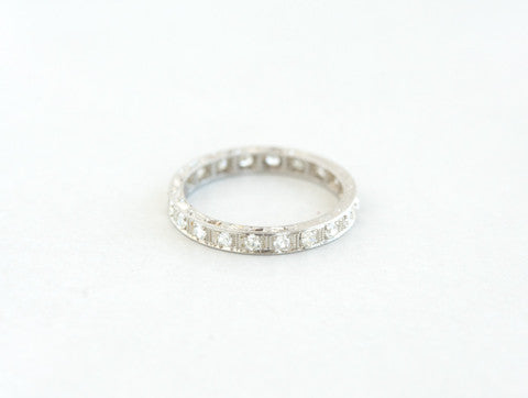 Vintage Diamond Eternity Band
