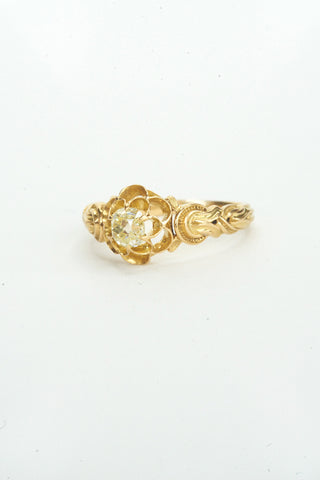 Antique French Diamond Horseshoe Ring