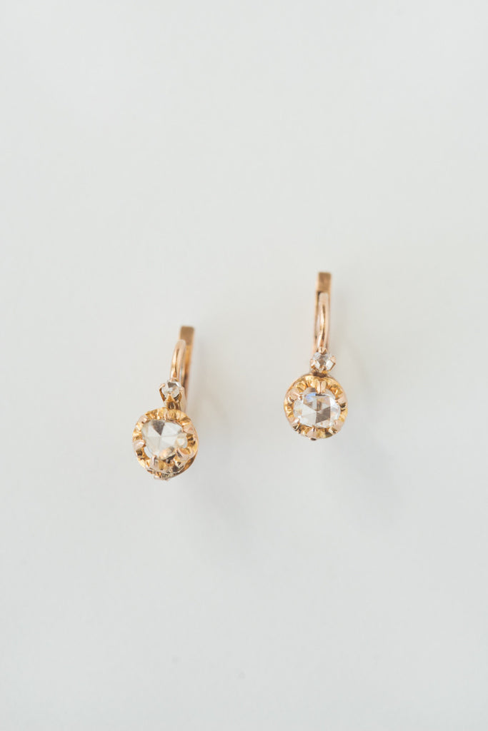 3a091a1b5be334 Antique French Rosecut Diamond Earrings