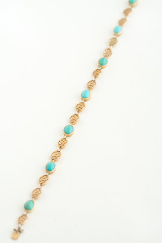 Antique French 18k Turquoise Bracelet