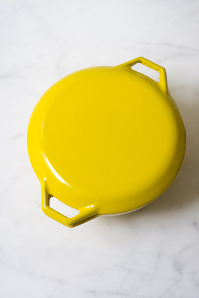 Vintage Yellow Dutch Oven