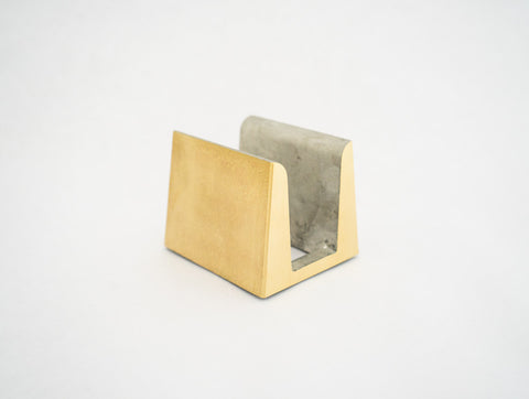 Futagami Brass Cutting Board Holder