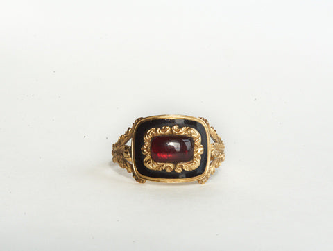 Antique Garnet Memorial Ring