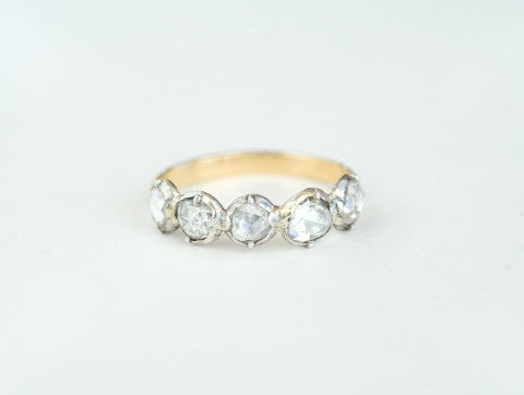 Antique Georgian Half Hoop Diamond Ring