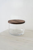 Glass Bowl with Walnut Lid