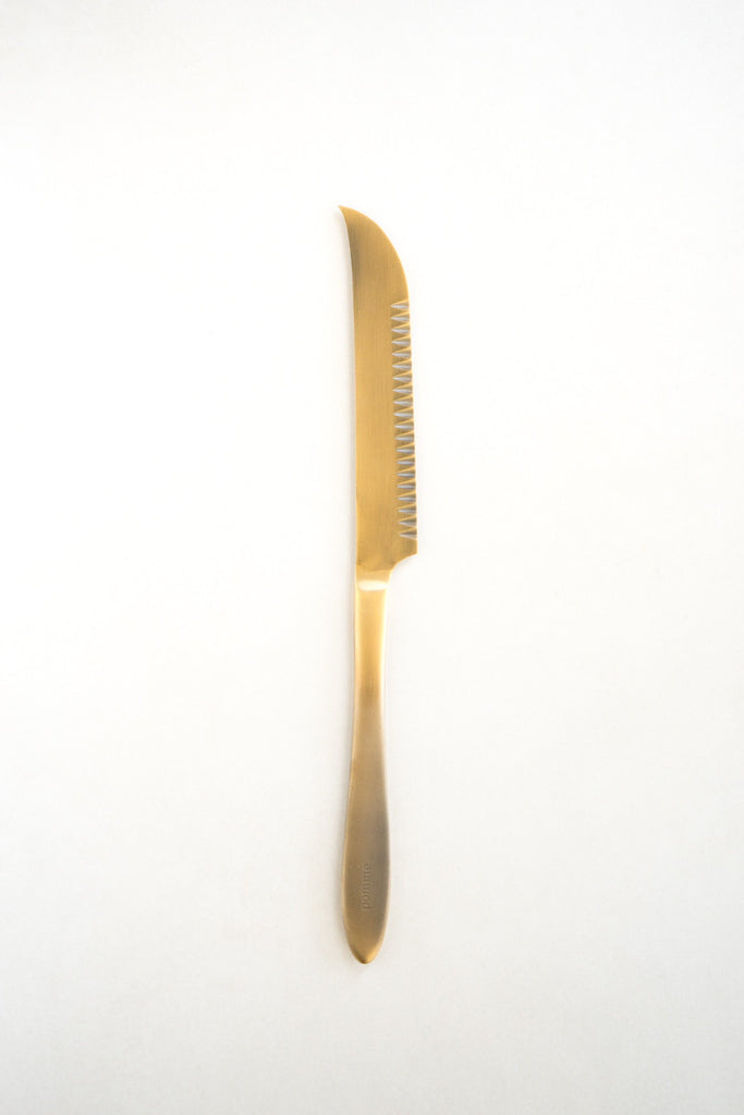 Pomme Gold Plated Cheese Knife