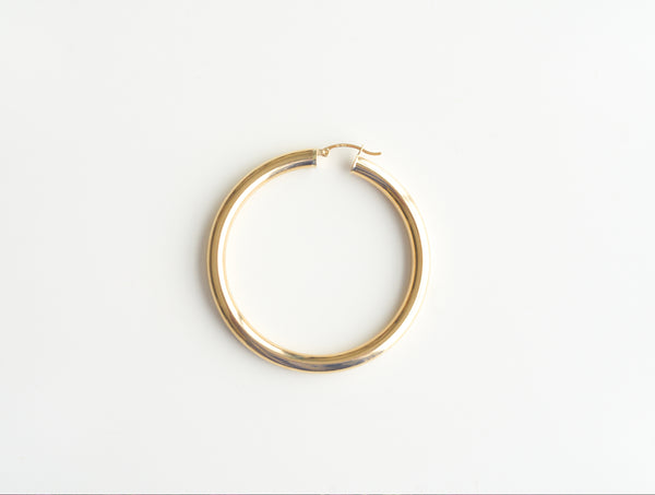 PURE CIRCLE HOOP EARRINGS