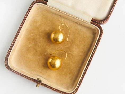 Antique 14k Gold Drop Earrings